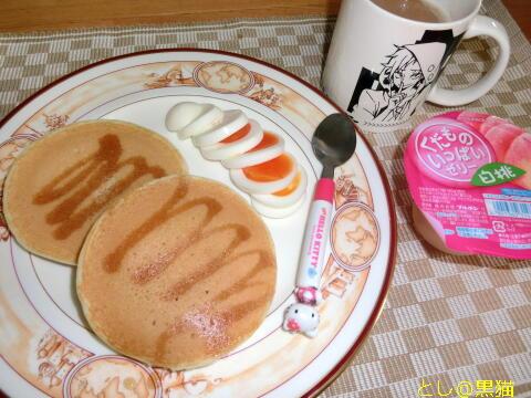 朝のパンケーキ