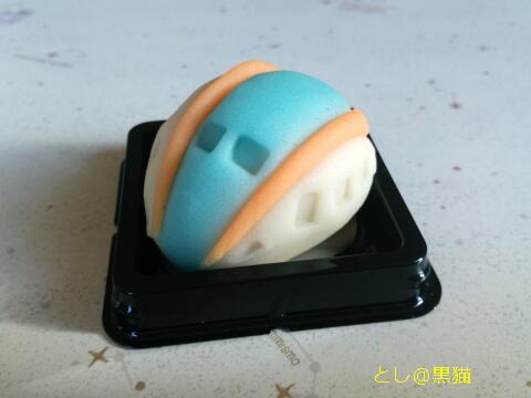かがやき型の和生菓子
