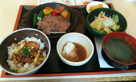 フォアグラ丼と黒毛和牛の焼きしゃぶ膳