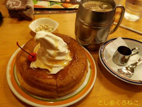 横浜西口 コメダ珈琲店 シロノワール たっぷりアイスコーヒー