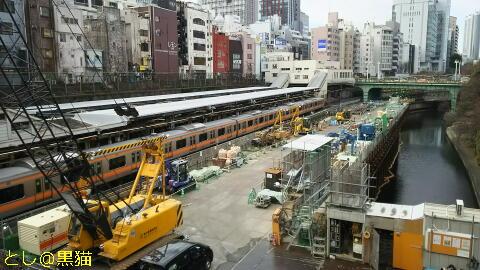 工事中の御茶ノ水駅