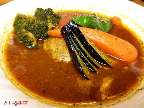 スープカレー カムイ ちょび&姉ちゃん×カムイ サタンバーグカレー 3辛