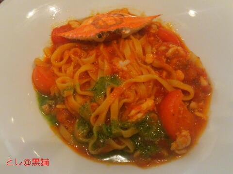 渡り蟹のトマトソースタリアテッレ(生パスタ)