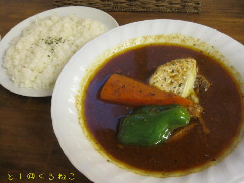 スープカレー カムイ ポーク カマンベールカレー 3辛