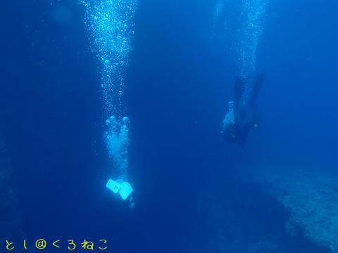 水深 -35mまで垂直潜行