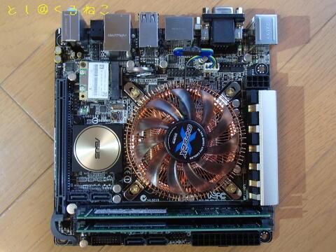 ASUS Z97I-PLUS マザーボード組み立て完了