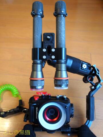 TG-4 + 水中リングストロボで 防水耐圧接写マクロ用カメラ